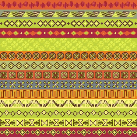 Ethnic strips in various motifs and colours Vector