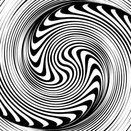A black and white spiral optical illusion Vector