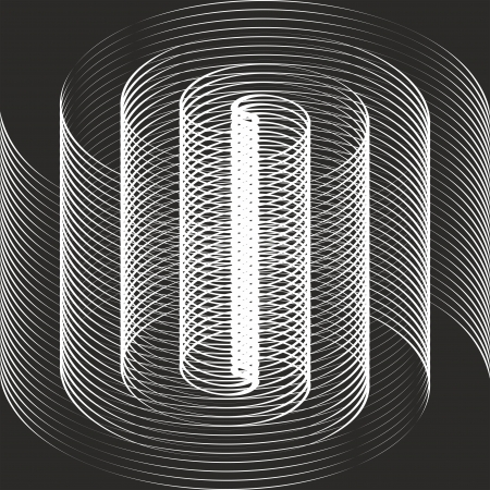impossible: A black and white spiral optical illusion