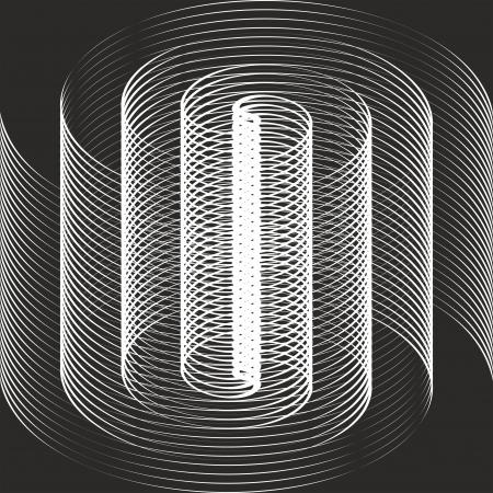 arte optico: Una ilusión óptica espiral blanco y negro