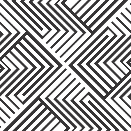 Seamless pattern design in black and white zigzag strips