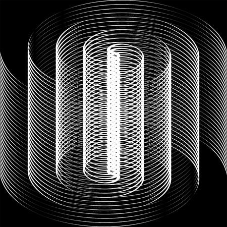 trickery: Black and white spiral optical illusion Illustration