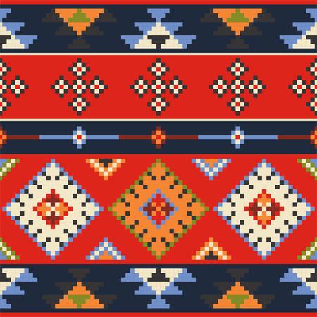 eastern europe: Set of vector Eastern Europe folk seamless pattern ornaments.