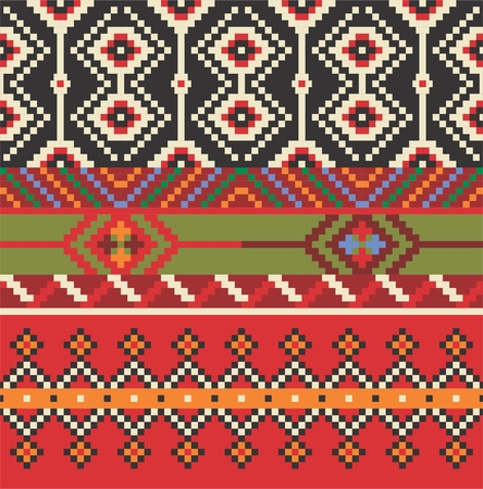 lappet: Vector illustration of Eastern Europe folk seamless pattern background