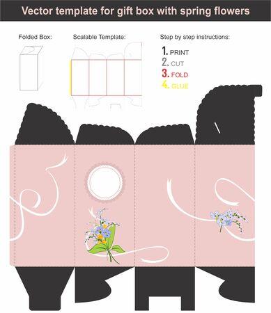box template: Present gift box template Illustration