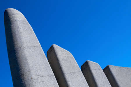 Afrikaans Language Monument shot on blue sky background in Paarl, Western Cape, South Africa photo