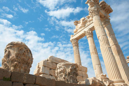 Trajan Temple in ancient city of Pergamon, Turkey