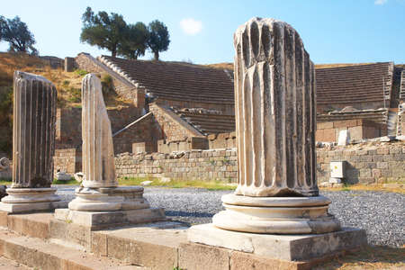 Ruins of healing temple Asklepion in ancient city of Pergamon, Turkey