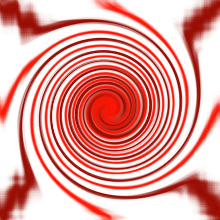Abstract red twirl on white background Stock Photo - 11019220