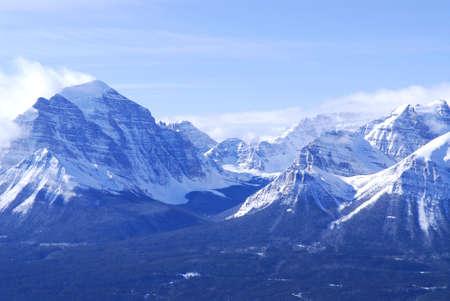 rockies: Scenic winter mountain landscape in Canadian Rockies