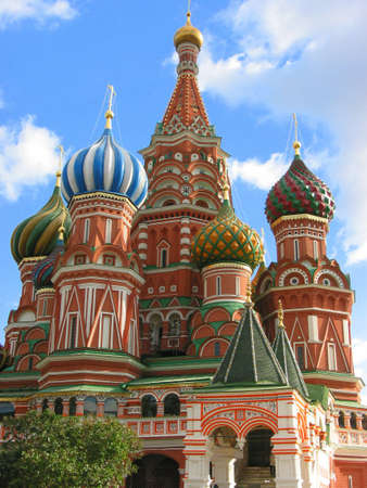 St. Basil's Cathedral on the Red Square in Moscow, Russia Stock Photo - 349337