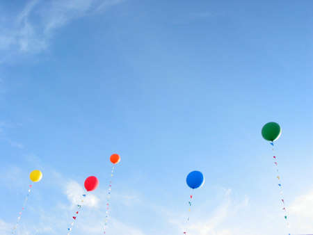 coloful: Background of coloful balloons flying in the blue sky