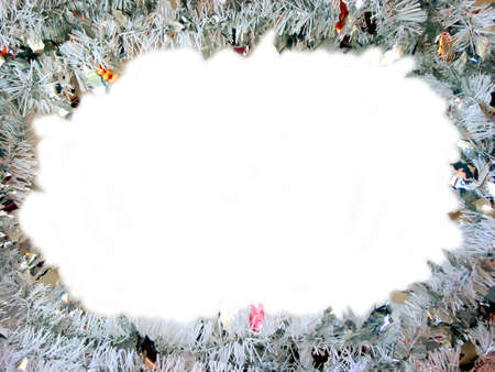 Christmas frame with white space for text