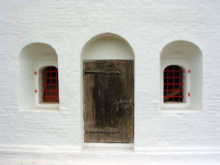 convent: Door and windows in the historical 16th century convent building