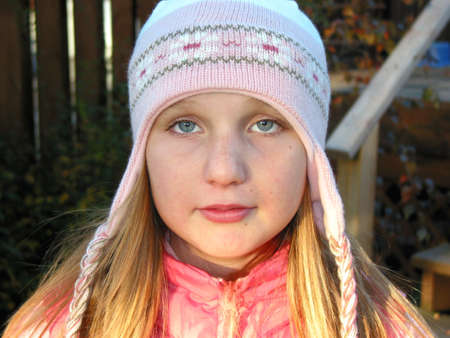 Portrait of a young girl wearing a winter hat Stock Photo - 351685