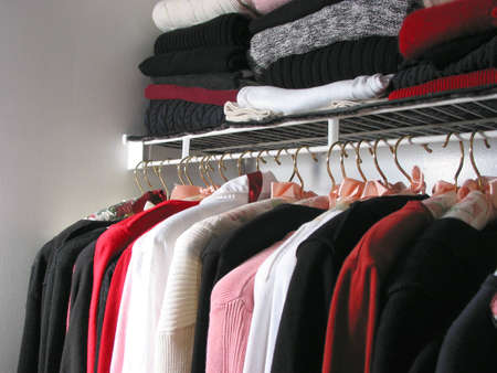 closet: Closet full of clothes: nothing to wear
