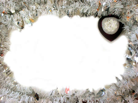 shaped: Christmas border with -shaped ornament