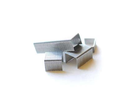 staples: Staples on white background Stock Photo