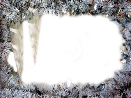 つらら: つらら飾りクリスマス境界線