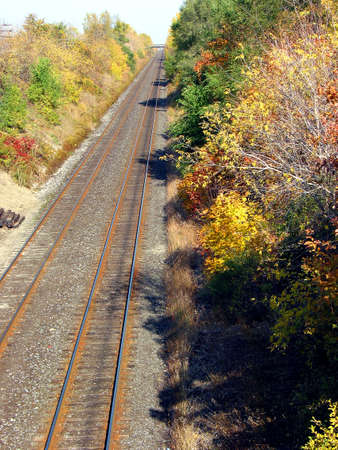 Railroad, view from the bridge