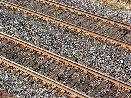 top: Railroad tracks, top view