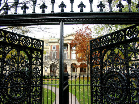 Wrought iron gate in downtown Toronto
