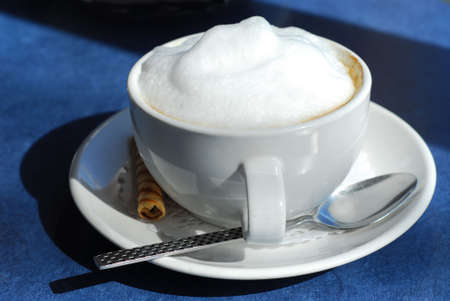 Cup of cappuccino Imagens