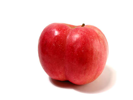 shaped: Funny shaped red apple with butt cheeks:) Stock Photo