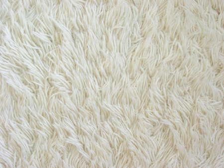 Tessitura di tappeti bianco fuzzy  Archivio Fotografico - 375192