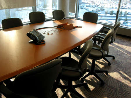 Empty business meeting or conference room