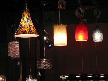 lamp shade: Modern light fixtures on display