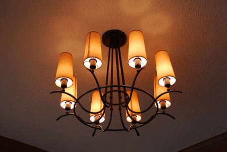 照明器具のクローズ アップ 写真素材
