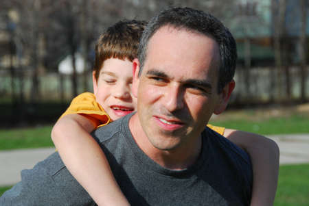 Portrait of father and son Stock Photo - 381355