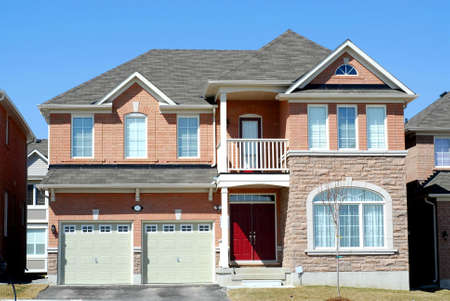 constructed: Newly constructed luxury home Stock Photo