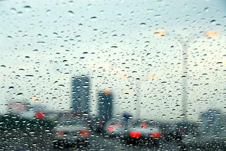 Traffic on a rainy day photo