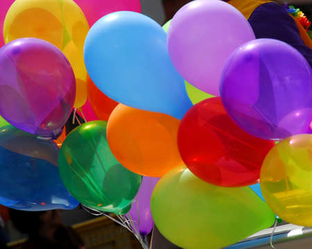 Bunch of colorful balloons Stock Photo - 410891
