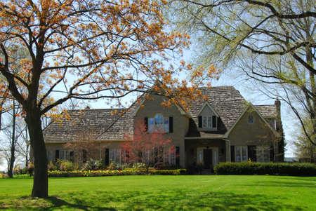 luxury house: Luxury house in spring