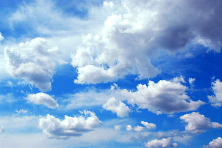 showers: Deep blue cloudy sky background