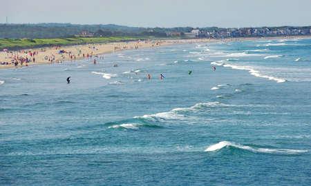 scenical: Sandy beach in Maine, USA