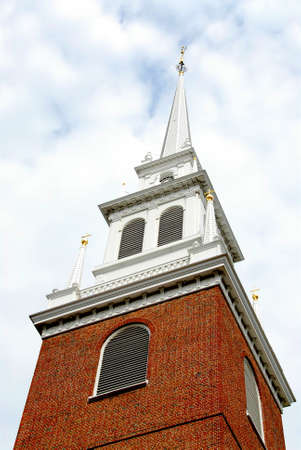 north   end: Steeple of Old North Church in Boston historical North End