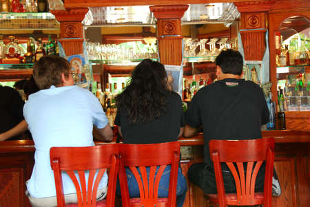 People sitting at the bar in Boston Little Italy photo