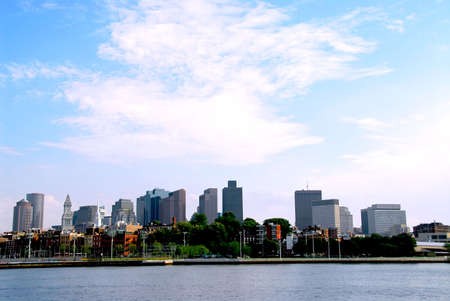 Boston skyline on summer day Stok Fotoğraf