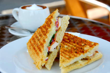 Sandwich and coffee lunch Stock Photo - 522208