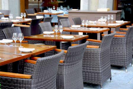 Empry restaurant Stock Photo