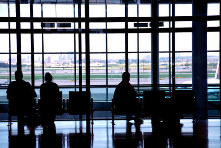 People waiting at the international airport terminal Stock Photo - 532708
