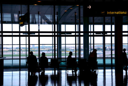 People waiting at the international airport terminal Stock Photo - 546798
