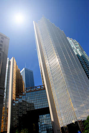 Modern glass and steel skyscrapers in downtown Toronto photo