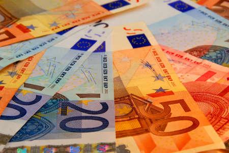 유럽의: Background of european union currency paper bills