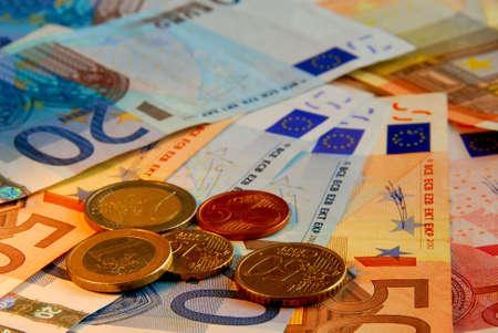 european union currency: Antecedentes de los proyectos de ley y de la Uni�n Europea moneda moneda Foto de archivo