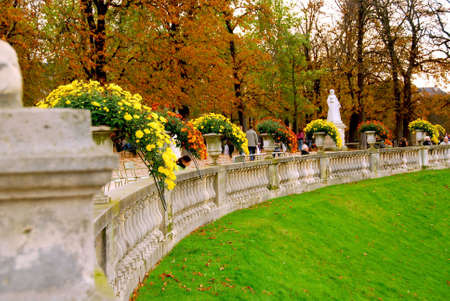 luxembourg: Jardins du Luxembourg (Luxembourg gardens) in Paris, France Stock Photo